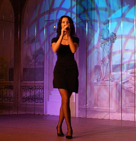 Vorführung mit Gesang