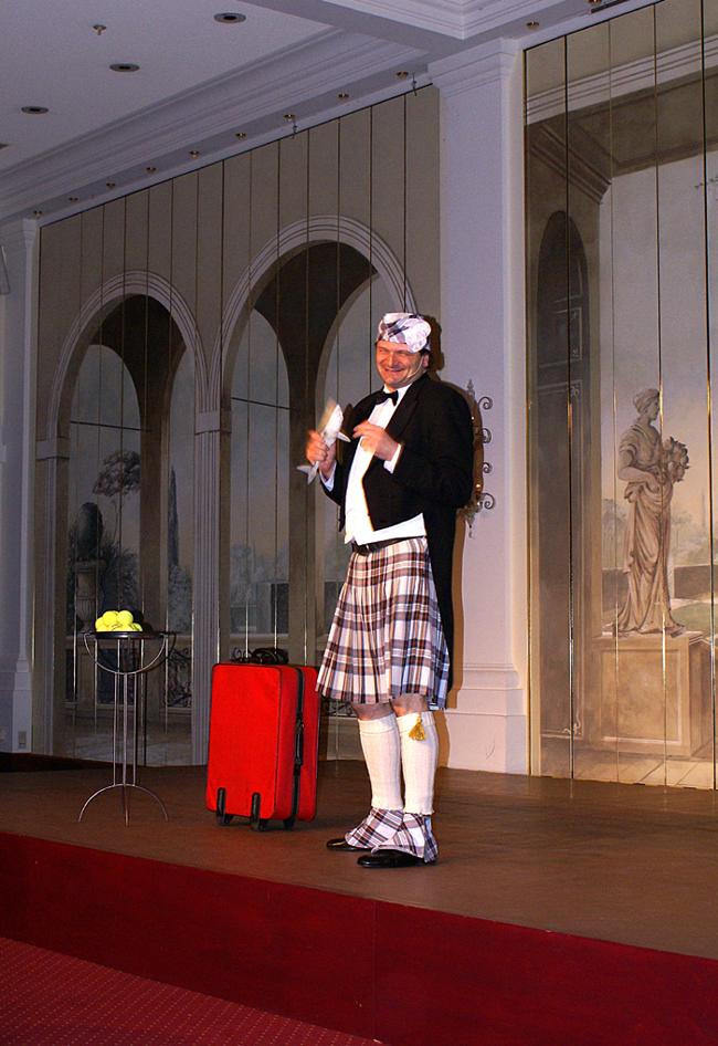 Vorführung im Kilt