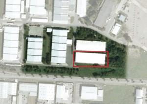 Luftbild von der Halle