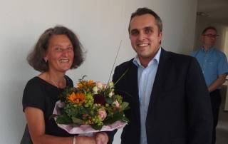 Frau Hösel und Geschäftsführer A. v. Abercron